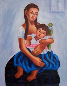 Image detail for -Mexican Art Oil Painting #722:Diego Rivera Mexican Art Little Di