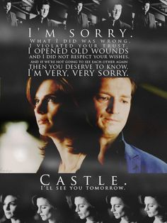 I liked the first 10 episodes, but this, the end of episode is when I fell head-over-heels for Beckett and Castle. Castle Abc, Castle Series, Castle Tv Shows, Best Series, Tv Series, Beckett Quotes, Castle Quotes, Richard Castle, Castle Beckett