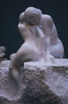 Sorrow and comfort, by Auguste Rodin.