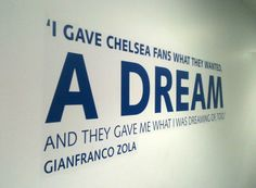 Gianfranco Zola 'A Dream' Chelsea Fans, Chelsea Football, Football Team, Gianfranco Zola, Blue Bloods, Affair, Give It To Me, Colour, Star