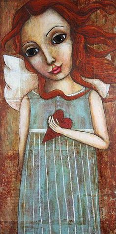 Loving ourselves releases our life force and expands our beauty.  ~ Mama Gena (from the Soulful Woman)    Artist: Michele Lynch, Grow in Wisdom and Grace —