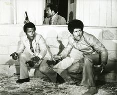 "Fred Williamson, Jim Brown and Jim Kelly in ""Three the Hard Way"""