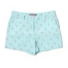 Pre-owned Vineyard Vines Shorts Size 12: Blue Women's Bottoms ($24) ❤ liked on Polyvore featuring blue and vineyard vines
