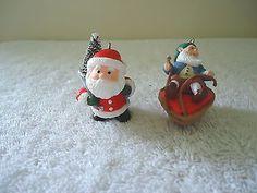 Vintage Lot Of 2 Hallmark Cards Christmas Ornaments,1,1985 Santa ,1,1986 Gnome #vintage #collectibles #home