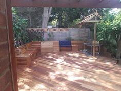 Check out this fantastic garden space created by @Concept Decking. Hardwood deck space, with arbour, seating and bbq enclosure. Produced with premium grade decking supplied from @Southgate Timber.Buy online at www.southgatetimber.co.uk @SouthgateTimber #hardwood #decking #westernredcedar #yellowbalau  #landscaping