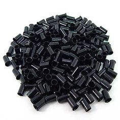 200 PCS 3.5 mm Black Color Copper Tubes Beads Locks Micro Rings for I Stick Tip Human Hair Extensions. Type: Micro Tubes. Color: Black. Material: Copper. Quantity: 200 pcs. Size: 3.5mm Diameter, Length: 6mm.