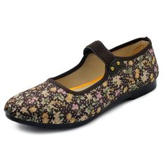 Sale 29% (16.64$) - Soft Sole Slip On Elastic Casual Flower Loafers