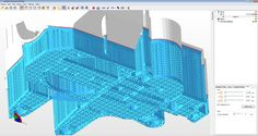 netfabb Enhanced Support Structures add-on for netfabb 6: Wall Support