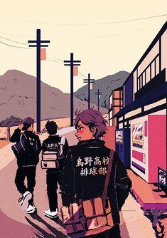 Haikyuu Karasuno, Haikyuu Fanart, Haikyuu Anime, Aesthetic Art, Aesthetic Anime, Manga Anime, Anime Art, Character Art, Character Design