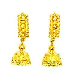 Have A Look  www.stores.ebay.in/shreejewel  New Gold Earrings/Jhumkas/Drops Handmade Design Bis Hallmark 22k 22ct (916 Pure)