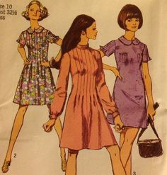 Simplicity 8903 - Misses DRESS in TWO LENGTHS, Size 10, Bust 32-1/2 - Mini Dress, Seventies Fashion - Vintage Dress Pattern, 1977, UnCut by NanasPatternsNThings on Etsy https://www.etsy.com/listing/205013250/simplicity-8903-misses-dress-in-two