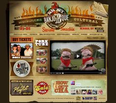 BANJO-B-QUE #bluegrass #BBQ #festival #website