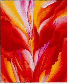 """""""Red Canna,"""" by Georgia O'Keeffe, 1923"""