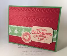 Stampin' Up! Holiday Catalog 2016 Wrapped in Warmth  Warmth & Cheer Designer Series Paper Stack Cable Knit Dynamic Textured Impressions Embossing Folder