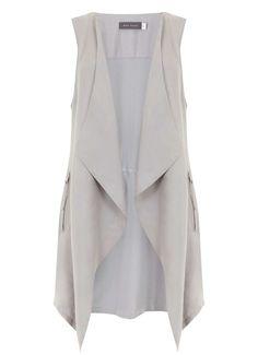Dove Woven Front Waistcoat