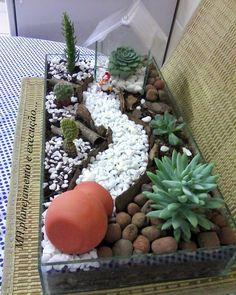 Super Ideas For Succulent Terrarium Ideas Minis Cacti And Succulents, Planting Succulents, Cactus Terrarium, Fish Tank Terrarium, Terrarium Ideas, Pot Jardin, Succulent Gardening, Organic Gardening, Dish Garden