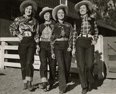 Denim was used as a way to break the walls down between women's and men's dress. In 1935 Vogue ran an advertisement for Western Chic that showcased women working on a Dude Ranch. 2/21/16