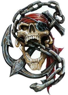 Aufkleber Set Pirat Totenkopf Anker Kette Airbrush Decal Pirate Skull Anchor Top in Auto & Motorrad Teile, Motorrad- & Kraftradteile, Accessoires & Literatur Skull Tattoo Design, Skull Design, Tattoo Designs, Pirate Art, Pirate Life, Gott Tattoos, Pirate Skull Tattoos, Indian Skull Tattoos, Laser Cut Stencils