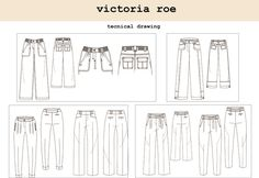 Technical Drawing & Trend Research by Victoria Roe at Coroflot.com