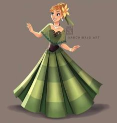 Disney Princesses x : Anna . Anna wears a Kimona Top(the sheer fabric) that's made of dyed Piña Cloth(pineapple organza), and a Hand Woven Abaca Skirt. Disney Princesses And Princes, Disney Princess Drawings, Disney Princess Art, Disney Princess Dresses, Disney Nerd, Disney Fan Art, Disney Drawings, Princess Anna, Drawing Disney
