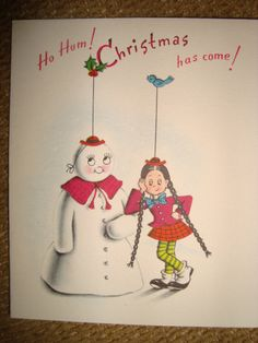 C202 Vintage Christmas Greeting Card by Norcross Simple Sal