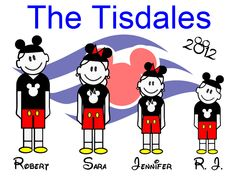 Custom Personalized Stick People Disney Cruise Line Stateroom Door Magnet. $15.00, via Etsy.