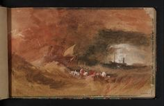 Joseph Mallord William Turner, 'Ships in a Storm, with Lightning' c.1834