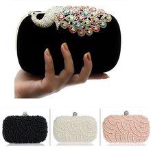 Envío gratis del estilo caliente día de la mujer embrague granos hechos a mano del banquete de boda de diamante bolso mensajero noche bolsa multi-estilo(China (Mainland))
