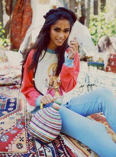 Alyssah Ali via http://www.c-heads.com/2015/02/01/shes-a-gypsy-wildfox-dreamy-spring-2015-lookbook/