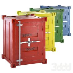 Sea container cabinet 4 COLORS