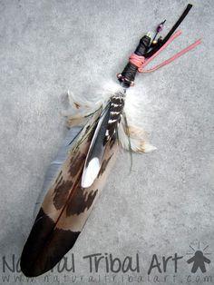 Plume de fumigation 32 cm (PS0034) (Archive plume de fumigation p. 1) - Natural Tribal Art