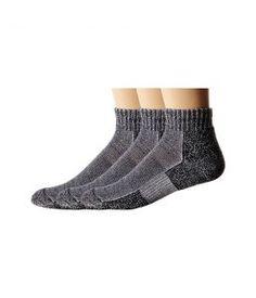 Thorlos Trail Running Mini Crew 3-Pair Pack (Charcoal) Crew Cut Socks Shoes