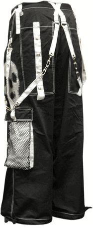 "Tripp NYC ""Ghost Skull"" Pants (Black/White)"