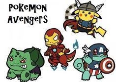 Pokemon Avengers - So cute!
