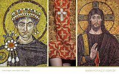 O mosaico foi a característica mais marcante do Império Bizantino.- Google