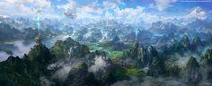 ConceptShips landscape image. Wonderful Inspiration for Atlantis, homeland of the Lyriza in #Valanas.