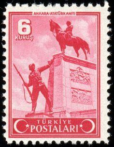 Türk PullarıAnkara Ulus Atatürk Anıtı (1943)