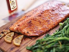 Why settle for maple-glazed salmon, when you can Maple Craft it! Also great with our our honey, hot honey or ginger-infused Maple Craft Syrups. Maple Syrup Salmon, Bourbon Maple Syrup, Maple Glazed Salmon, Maple Syrup Recipes, Salmon Recipes, Seafood Recipes, Sauce For Salmon, Bourbon Barrel, Salmon Fillets