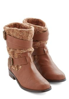 Isn't Knit Great? Boot. These tan boots from Restricted are the epitome of comfy-cute fashion! #gold #prom #modcloth