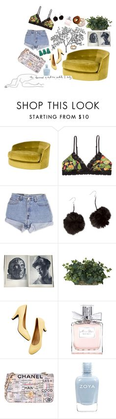 """""""ideal lazy day"""" by bowandarrows ❤ liked on Polyvore featuring Jayson Home, Monki, Levi's, GANT, Rodin, Nearly Natural, Christian Dior, Chanel, Zoya and Kismet"""
