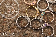 Piercing Ideen Septum rings, Janna by Bvla - Daith Piercing Jewelry, Daith Earrings, Body Piercings, Piercing Tattoo, Septum Ring, Cartilage Piercings, Body Jewellery, Ear Jewelry, Jewelry Design