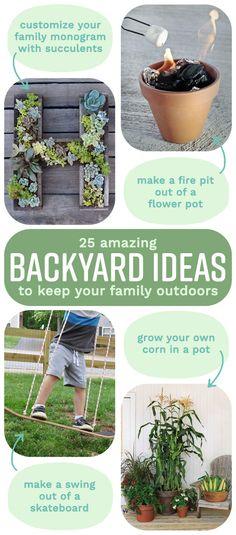 25 Ways To Seriously Upgrade Your Family& Backyard Terrariums, Large Backyard Landscaping, Landscaping Ideas, Desert Backyard, Backyard Retreat, Modern Landscaping, Backyard Patio, Backyard Projects, Backyard Ideas