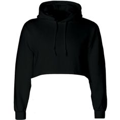 Goldie Black Hoodie ($43) ❤ liked on Polyvore featuring tops, hoodies, cropped hoodies, crop top, hooded pullover, sweatshirt hoodies and cropped hoodie