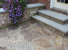 Coping & Stair Treads: Rockfaced Treads & Coping www.earthworksstone.net