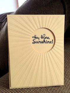 I'm in Haven: Sunshine Use the Tim Holtz embossing folder I have