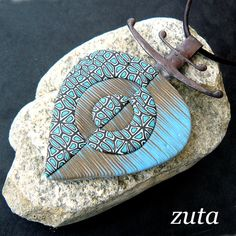 *POLYMER CLAY ~ Pendant by Verundela, via Flickr