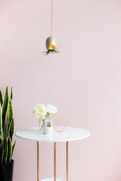 DIY Gold & Grey Hanging Air Planter | Fall For DIY