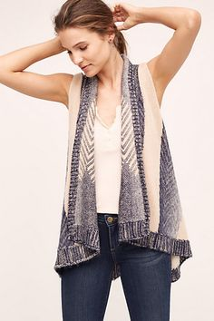 Mabli Vest #anthropologie  Great color combo and fit looks comfortable.