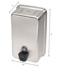 Bathroom Supplies | Soap Dispensers | Frost Wall Mount Manual Vertical Liquid Soap Dispenser - Stainless - 708A | B709988 - GlobalIndustrial.com