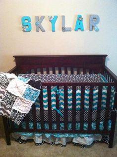 Custom Crib Bedding by NeverUndressed on Etsy, $175.00